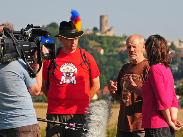 Hessisches Fernsehen berichtet über Grenzegang Wetter