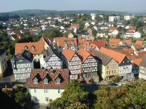 Blick von der Stiftskirche auf die Stadt