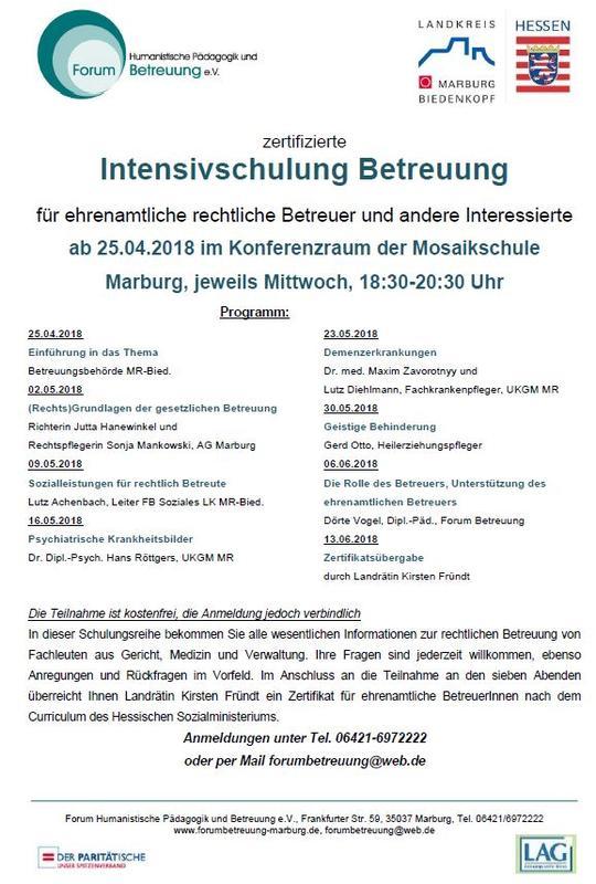 2018-01-17 Flyer Forum Betreuung eV