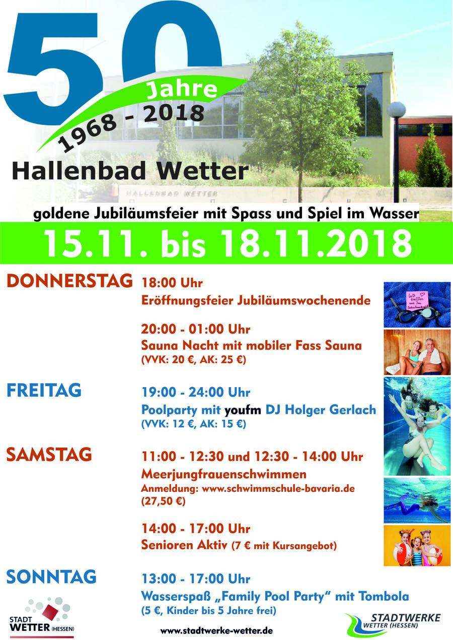 Plakat 50 Jahre Hallenbad