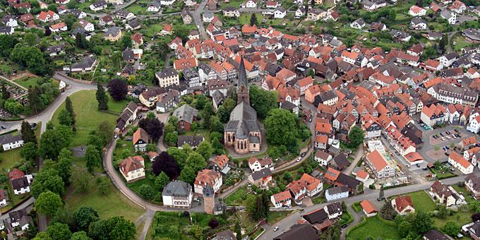 Stadtansicht von oben