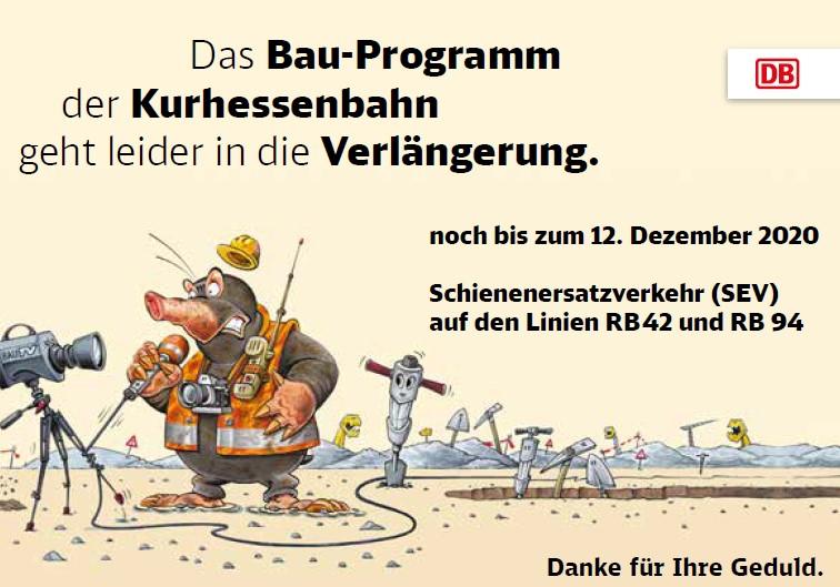 DB Umbau Programm Verlängerung bis 12.12.2020