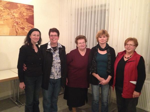 Helferinnen Oberndorf Gudrun Kachelmus, Doris Hasselbach, Margret Hinrichs, Karin Werner und Anna Muth